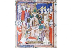 Edward II being crowned