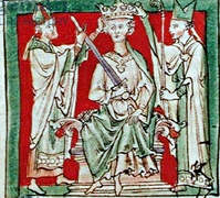The crowning of King Stephen